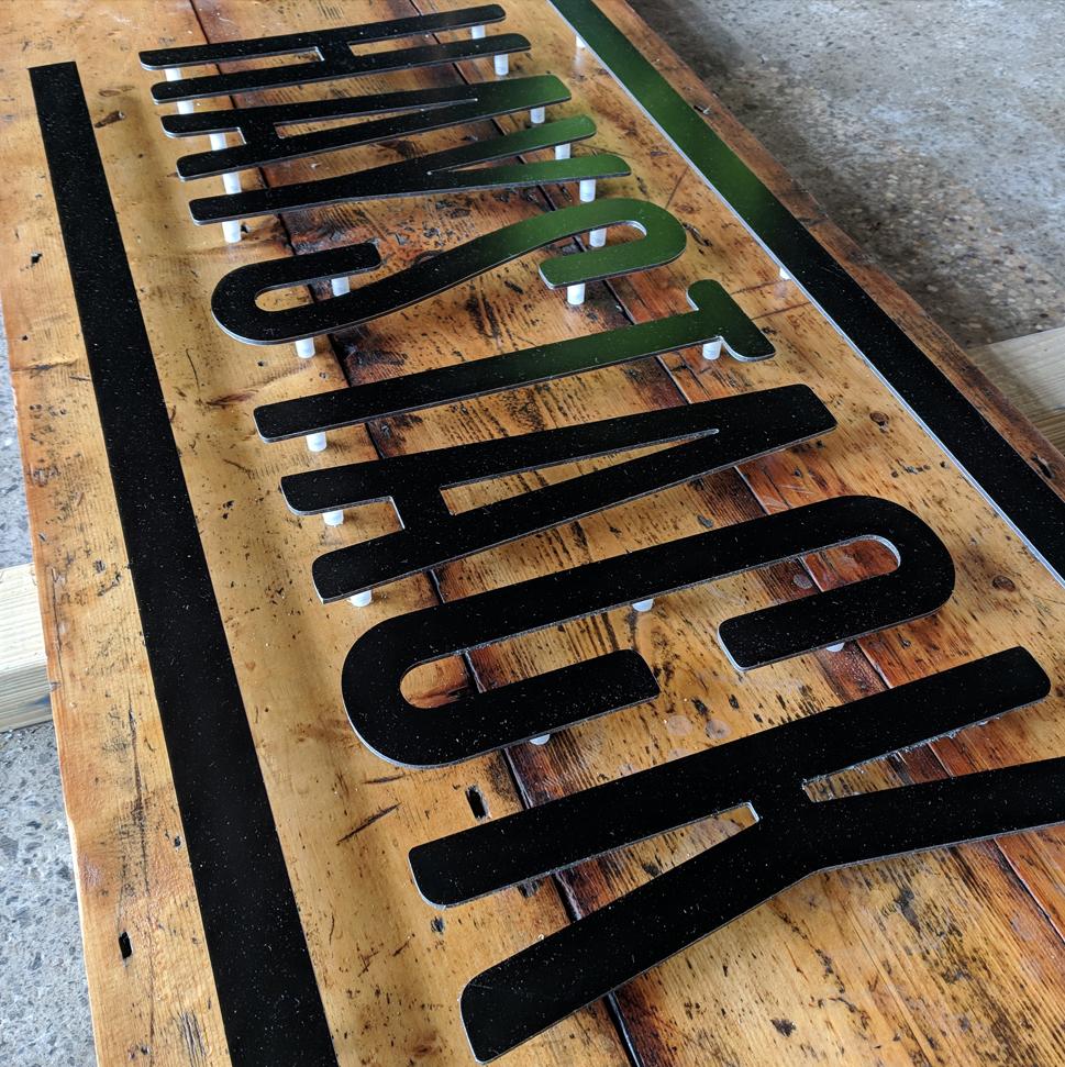 CNC cut signage